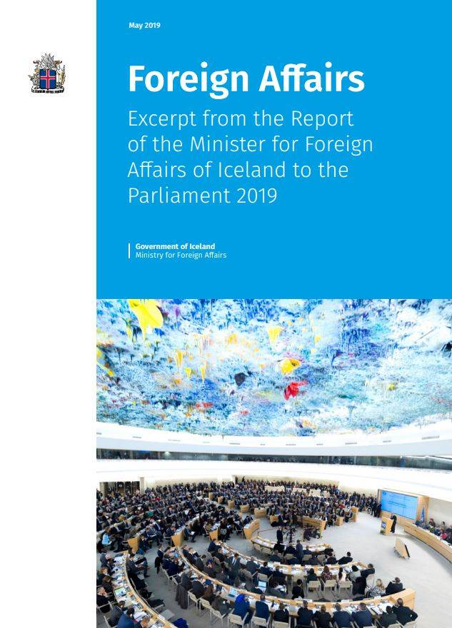 Excerpt from the Report of the Minister for Foreign Affairs of Iceland to the Parliament 2019 - mynd
