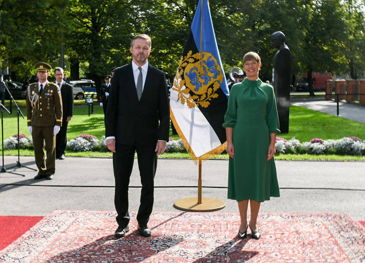 The Ambassador of Iceland presents the Letter of Credentials to the President of Estonia - mynd