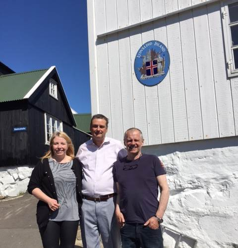 The staff of the Icelandic Consulate General in Thorshavn