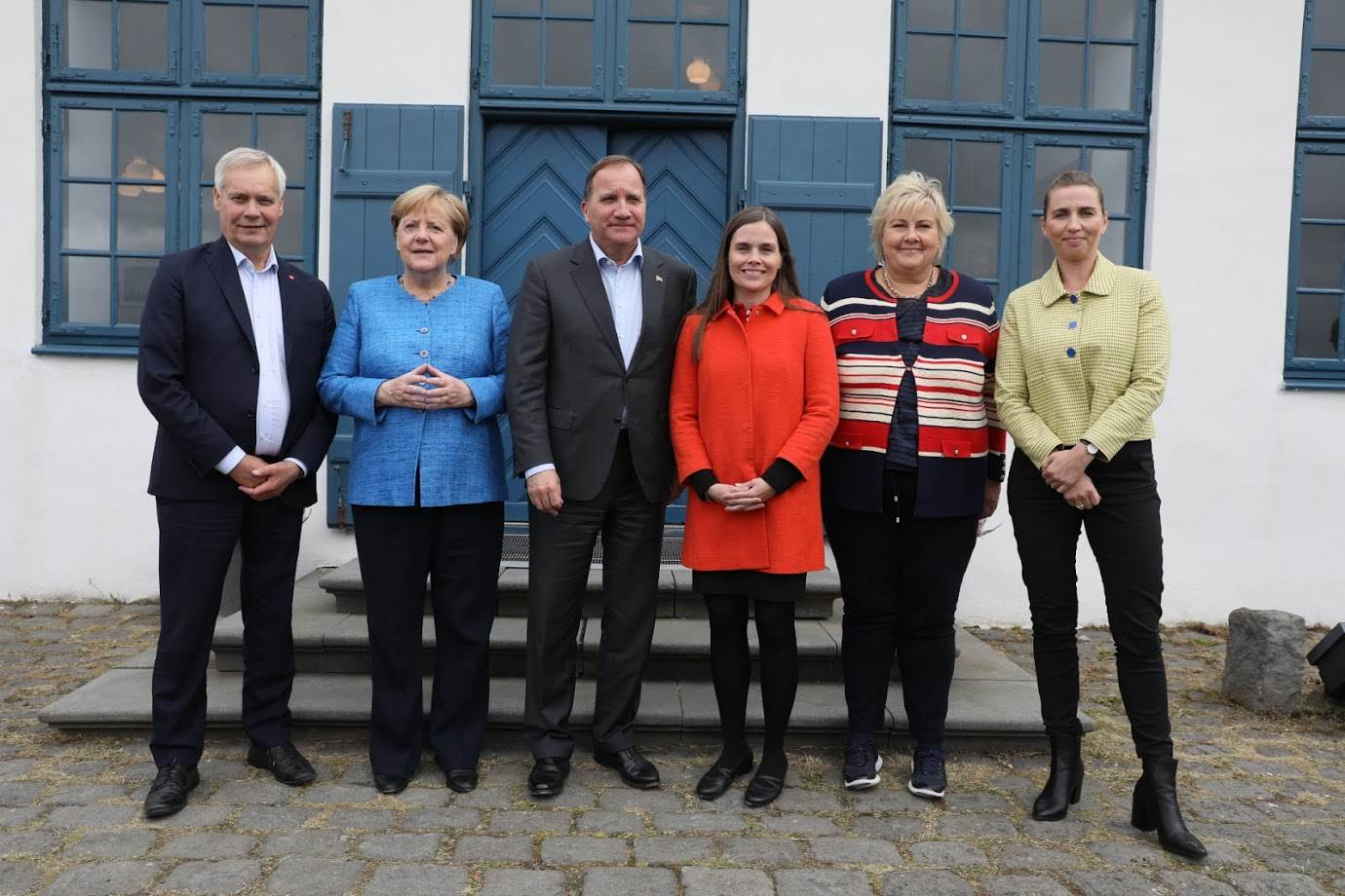 The Nordic Prime Ministers with German Chancellor, Angela Merkel - mynd