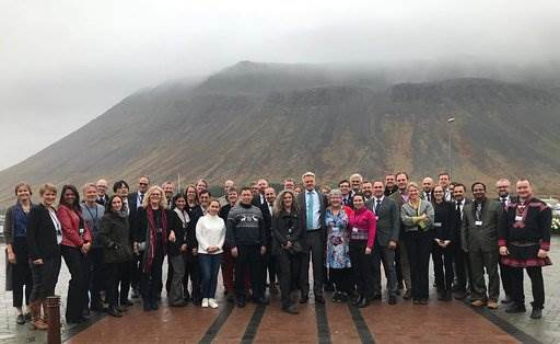 The SDWG had a good meeting in Isafjordur, Iceland. Photo credit: Rebekka Þormar. - mynd