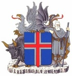 The coat of arms of the Republic of Iceland